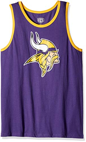 - NFL Minnesota Vikings Male NFL OTS Cotton Tank Distressed, Purple, Medium