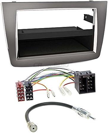 Carmedio Alfa Mito 08 13 1 Din Autoradio Einbauset In Original Plug Play Qualität Mit Antennenadapter Radioanschlusskabel Zubehör Und Radioblende Einbaurahmen Silber Navigation