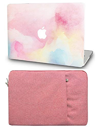"""KECC Laptop Case for MacBook Pro 13"""" (2020/2019/2018/2017/2016) with Sleeve Plastic Hard Shell A2289/A2251/A2159/A1989/A1706/A1708 Touch Bar 2 in 1 Bundle (Rainbow Mist)"""