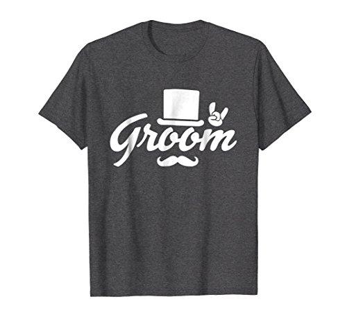 Mens Groom Bachelor Party T-Shirt Top Hat Rock On Tee 3XL Dark Heather