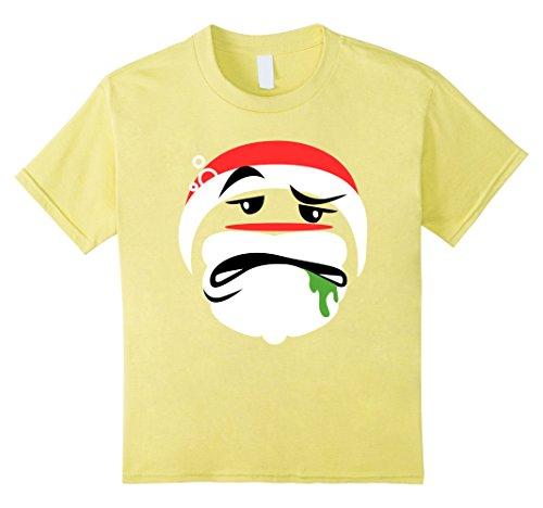 [Kids Funny Christmas Drunk Santa Emoji Holiday T-Shirt St Nick 4 Lemon] (Martini Costume Halloween)