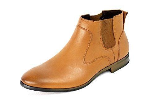 Hombre Informal Chelsea Inteligentes Botines Italian Zapatos Vestido Talla 34 7 8 9 10 11 NUEVO Marrón