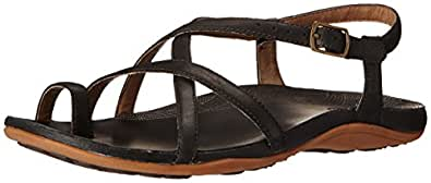 Chaco Women's Dorra Sandal, Black, 5 M US