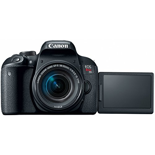 Canon EOS Rebel T7i DSLR Camera with EF-S 18-55mm is STM & Canon 75-300mm Lens + 2X 32GB Ultra SDHC UHS Class 10 Memory Card + Accessory Bundle (2 Lens Kit EF-S 18-55mm & EF 75-300mm)