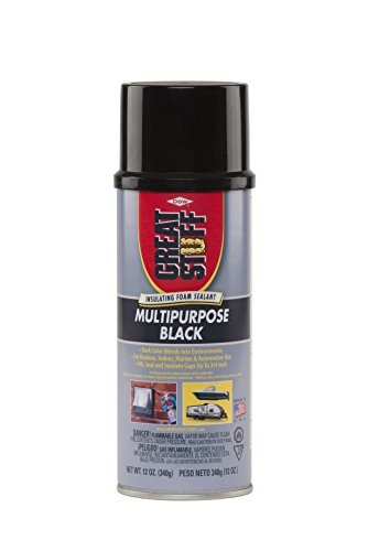 - Great Stuff 99054816 Multipurpose Insulating Foam Sealant, 12 oz, Black