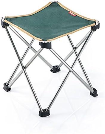 超軽量ポータブル折りたたみスツール高品質7075アルミ合金アウトドアキャンプピクニック釣りチェアミニストレージレジャーフォールトスツール (Color : Green)