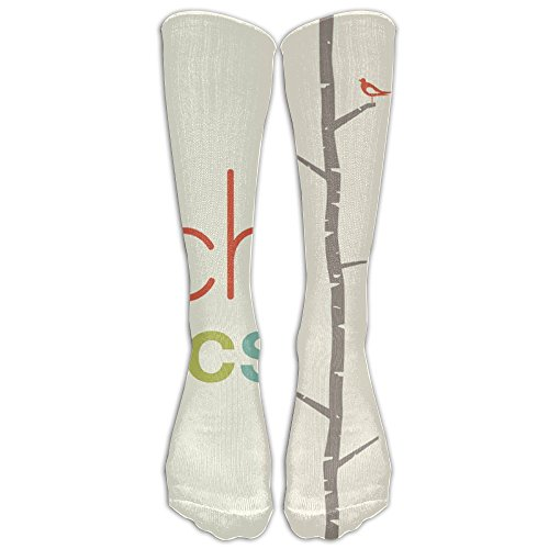 Funny Brich Tree Knee High Socks Soccer Compression Socks For Girls (Brich Trees)