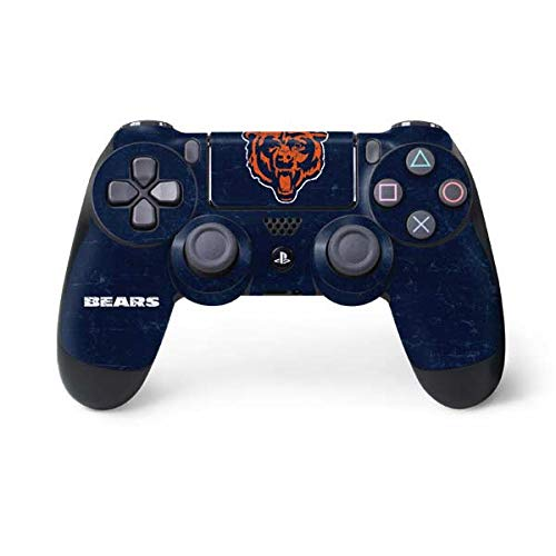 (Skinit Chicago Bears - Alternate Distressed PS4 Controller Skin - Officially Licensed NFL PS4 Decal - Ultra Thin, Lightweight Vinyl Decal Protective Wrap)