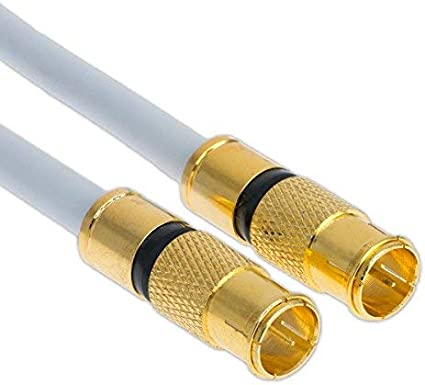 Cable satélite de 1 m, 135 db, conector rápido, conector F, conector rápido, cable de antena digital, router coaxial HD 4K UHD (1 m, 2 conectores ...