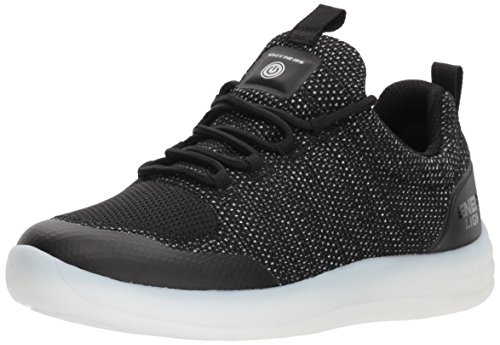 Skechers Boys Energy Lights Street Casual Lace Light Up Trainers Shoes Noir