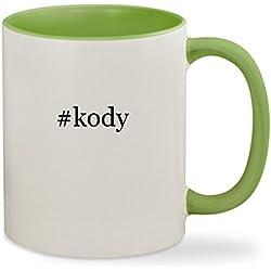 #kody - 11oz Hashtag Colored Inside & Handle Sturdy Ceramic Coffee Cup Mug, Light Green