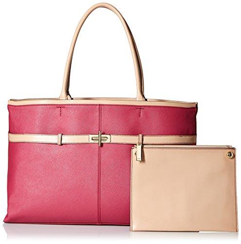 Belinda Leather (Tommy Hilfiger Belinda Leather EW Tote Top Handle Bag, Dusty Rose, One Size)