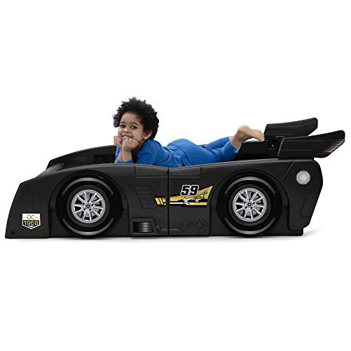 Delta Children Grand Prix Race Car Toddler & Twin Bed - Made in USA, Black 5