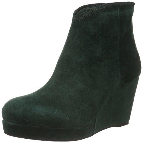 Green por De Wedge Sofie Grün para Mujer Boot Suede Schnoor Estar Casa Zapatillas 40q7Rw