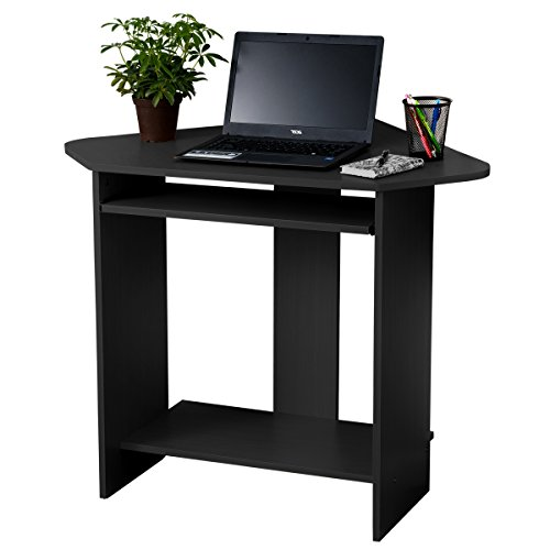 Fineboard Home Office Compact Corner Desk, Black Fineboard