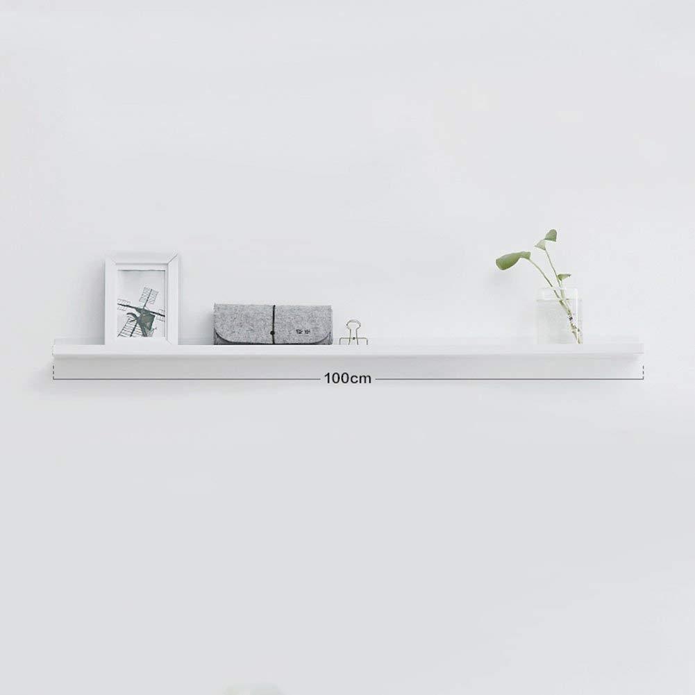 3.68.5100cm CWJ Wall Combination Shelf, Desk Organiser, Multifunctional Storage Rack Decorative Frame Wall Iron Art White Storage for Home Office Supplies