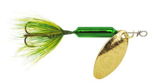 Yakima Bait Wordens Original Rooster Tail Spinner Lure, Metallic Gold Spot, 1/8-Ounce