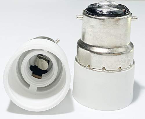 Luminosa B22 to E14 LED Edison Smart Bulb Lamp Adapter Holder Converter (Pack of 2 adapters) / Bayonet B22 to E14 Edison…