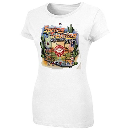Majestic MLB Women's White 2014 Spring Training Cactus League Map T-Shirt