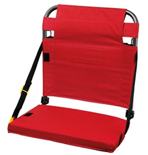 Stadium Seat with Back Support and Cushion (Red) ()