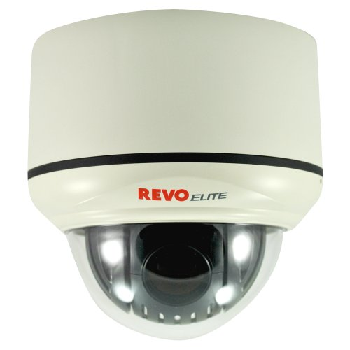 REVO America Indoor PTZ Dome Surveillance Camera (RELPTZ22-3) - 700TVL Pan/Tilt/22x Zoom Day/Night Vision ICR Remote Access Alarm Privacy Zone 360 Degree (360 Ptz Dome Type)