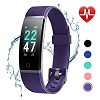 Deals on LETSCOM Fitness Tracker Heart Rate Monitor Watch