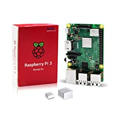 The Raspberry Pi 3 Model B+ is the latest Raspberry Pi Foundation mini computer with a quad core 64 bit ARMv8 CPU operating at 1.4GHz. It is almost three times as fast as the outgoing Raspberry Pi 2 Model B in many benchmarks. With the increa...