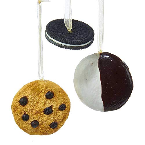 Kurt Adler 2.48 3.11-Inch Cookie Ornament Set of 3, 3 Piece (Best Nyc Black And White Cookies)