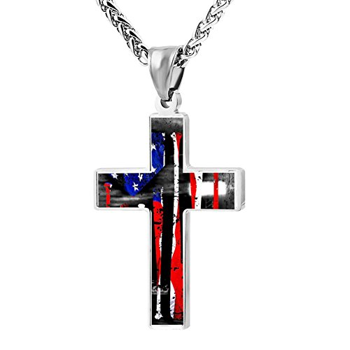 LUQeo USA Baseball Cross Necklace Christian Pendant Polished Lord Jewelry - Logo Baseball Pendant