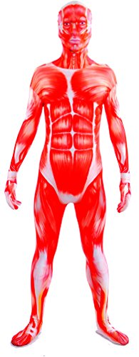 Seeksimle Unisex Muscle Zentai Lycra Spandex One Piece Halloween Suit (Large, Muscle) (2)