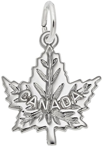Rembrandt Canada Maple Leaf Charm - Metal - Sterling Silver