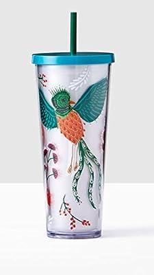 bd0d663db47 Starbucks Cold Travel Cup Tropical Bird & Flowers 24 oz.