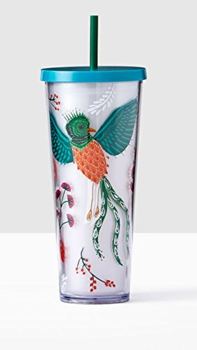 Starbucks Coffee Cold Travel Cup Tropical Bird & Flowers ...