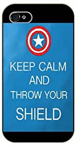 iPhone 5C Keep Calm and throw your shield - black plastic case / Keep Calm, Motivation and Inspiration, avengers, america