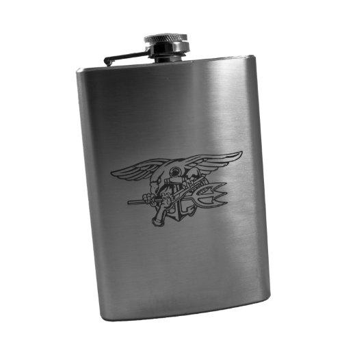 8oz Navy Seal Trident Flask