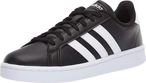 adidas Women's Grand Court Running Shoe, White/Black, 10 M US