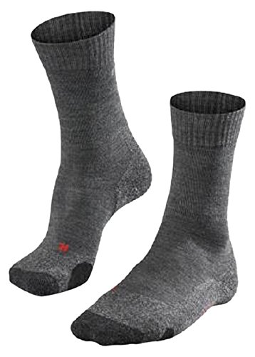FALKE 16474 Herren Socke TK 2, asphalt melange (3180), 42-43, ( UK 8-9 )