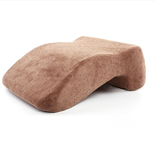Active Authority Memory Foam Slow Rebound Pillow Travel Office Napping Stomach Sleeper Pillow. Perfect for Work Desk and Home (Coffee)