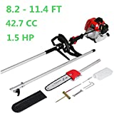 Maxtra Gas Pole Saw, 42.7CC 2-Cycle 8.2FT to 11.4 FT Extendable Cordless Gas Chainsaw,Powerful Long Reach Tree Trimmer Pruning Chain Saw