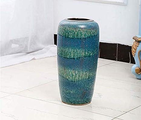 Cielo Azul Jarrón de cerámica Alta Temperatura Horno Cambio de ...