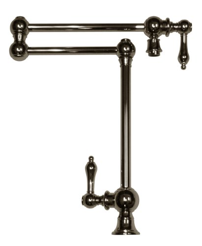 Whitehaus Collection WHKPFDLV3-9555-C Vintage III Deck Mount Pot Filler, Polished Chrome ()