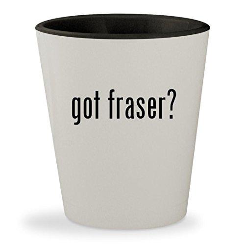 got fraser? - White Outer & Black Inner Ceramic 1.5oz Shot Glass