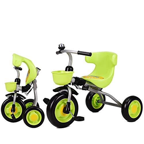 【超歓迎された】 Axdwfd 緑 子ども用自転車 子供三輪車子供ペダル自転車2-5年古い Axdwfd、積載重量40キログラムベビーキャリッジ男の子女の子おもちゃの車 緑 B07PXY9N3Q, 英国直輸入 五番館アンティーク:b8a0f136 --- senas.4x4.lt