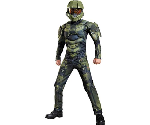 Master Chief Classic Muscle Costume, Small (4-6)