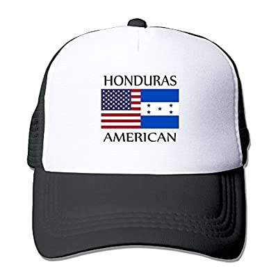 RUN_RUNNING&& Honduras American Flag Unisex Adjustable Mesh Back Cap Hat