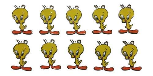 New Horizons Production Looney Tunes Tweety Bird Standing Set of 10 DIY Charms Pendant