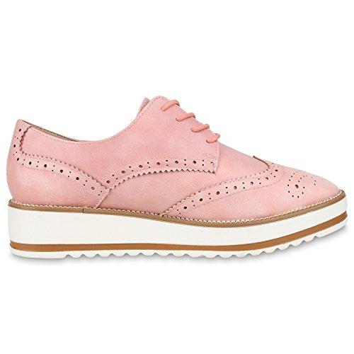 napoli-fashion - Zapatos de vestir brogues Mujer Rosa