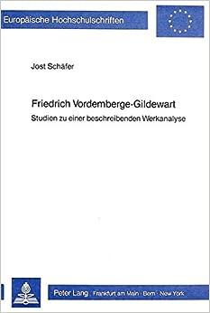 Book Friedrich Vordemberge-Gildewart: Studien Zu Einer Beschreibenden Werkanalyse (Europaeische Hochschulschriften / European University Studie)