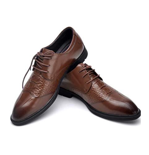 Cuero De Brown Hombres Retro Para Xdljl Británicos Zapatos Negocios 5EOqTTz
