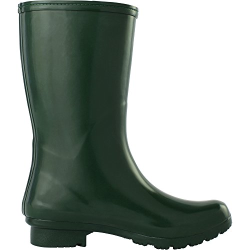 EMMA Women's Green Roma Boots Rain Mid Boots wag55Eq